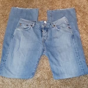 Ladies Luck Brand Easy Rider Button Fly Jeans sz 8